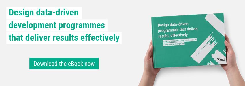 Design data-driven development programmes that deliver results effectively